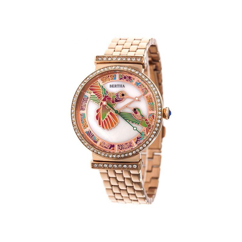 ベルサ メンズ 腕時計 アクセサリー Womens Emily Mother-Of-Pearl Watch Rose Gold