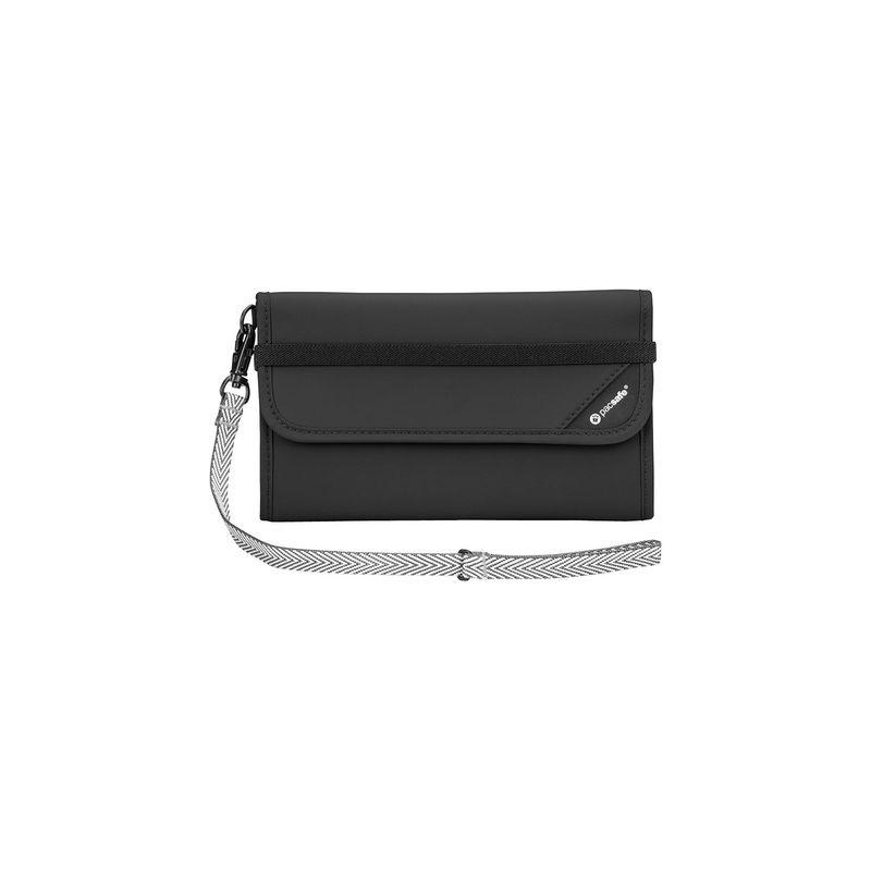 パックセーフ メンズ 財布 アクセサリー RFIDsafe V250 Anti-Theft RFID Blocking Travel Wallet Black