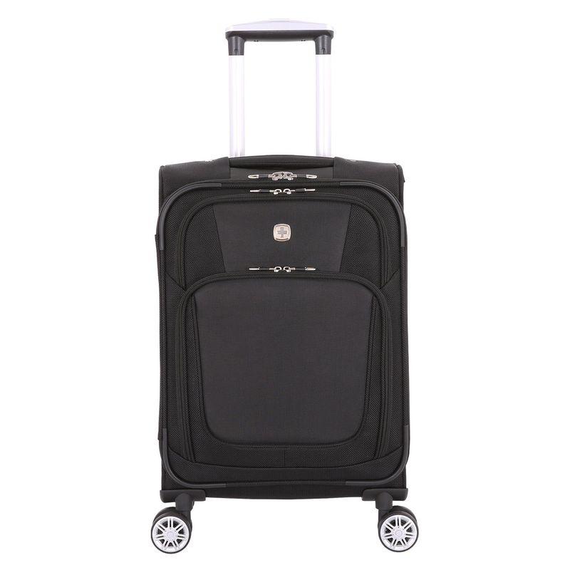 スイスギアトラベルギア メンズ スーツケース バッグ 7768 20 Expandable Carry-On Spinner Black