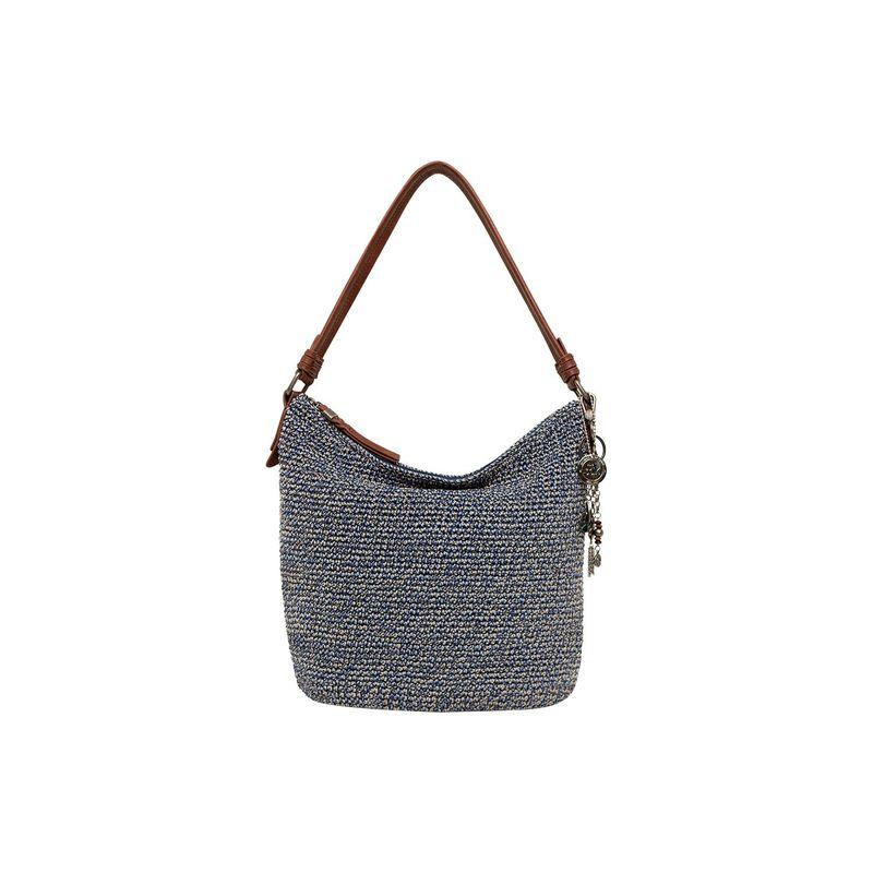 ザサック メンズ ハンドバッグ バッグ Sequoia Crochet Hobo Denim Static