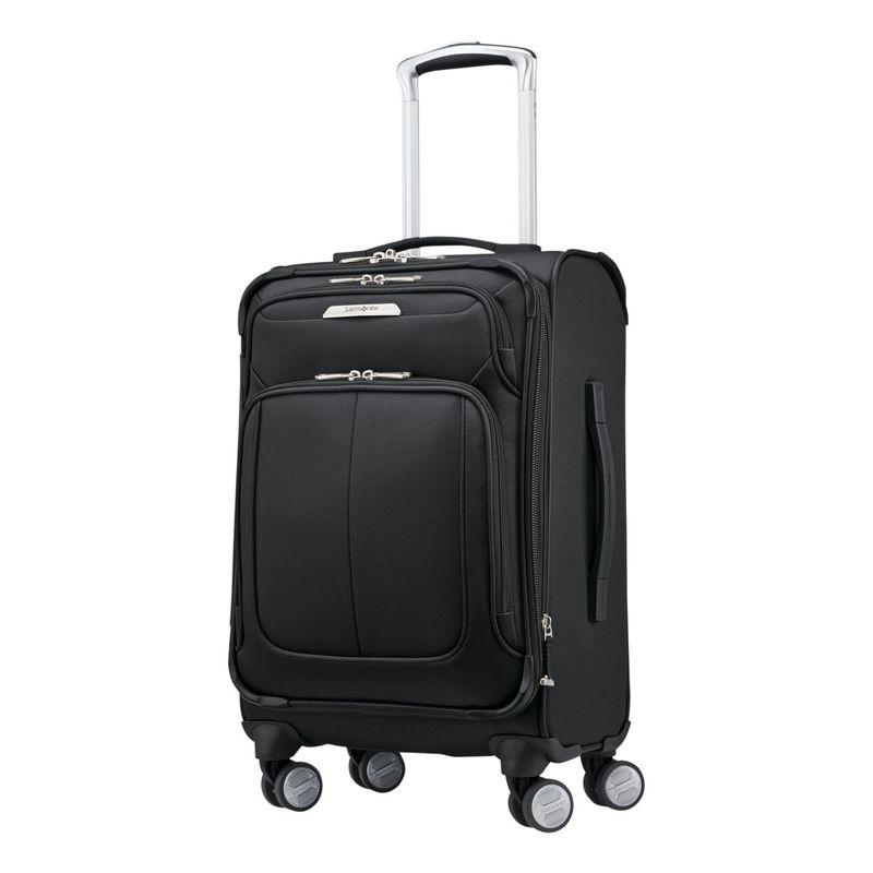サムソナイト メンズ スーツケース バッグ SoLyte DLX 20 Expandable Softside Carry-On Spinner Midnight Black