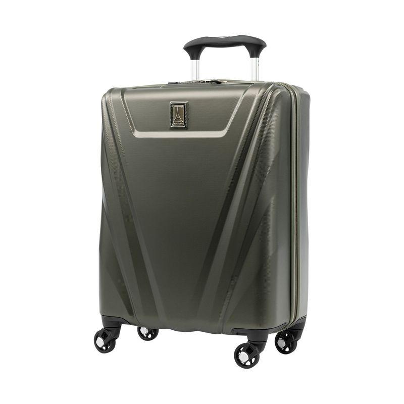 トラベルプロ メンズ スーツケース バッグ Maxlite 5 21.5 Hardside International Carry-On Spinner Slate Green