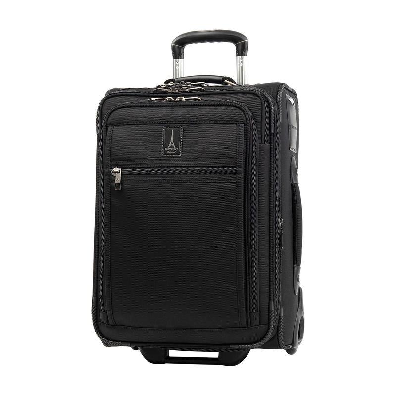 トラベルプロ メンズ スーツケース バッグ Crew Expert Max Carry-On Expandable Rollaboard Black
