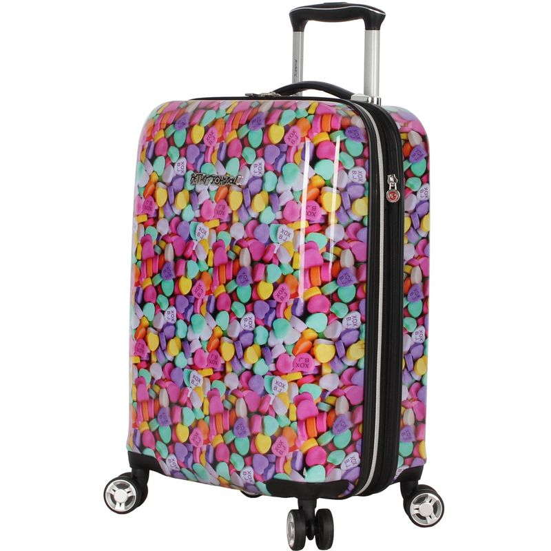 ベッツィジョンソン メンズ スーツケース バッグ Candy Heart 20 Expandable Hardside Carry-On Spinner Candy Heart Pink
