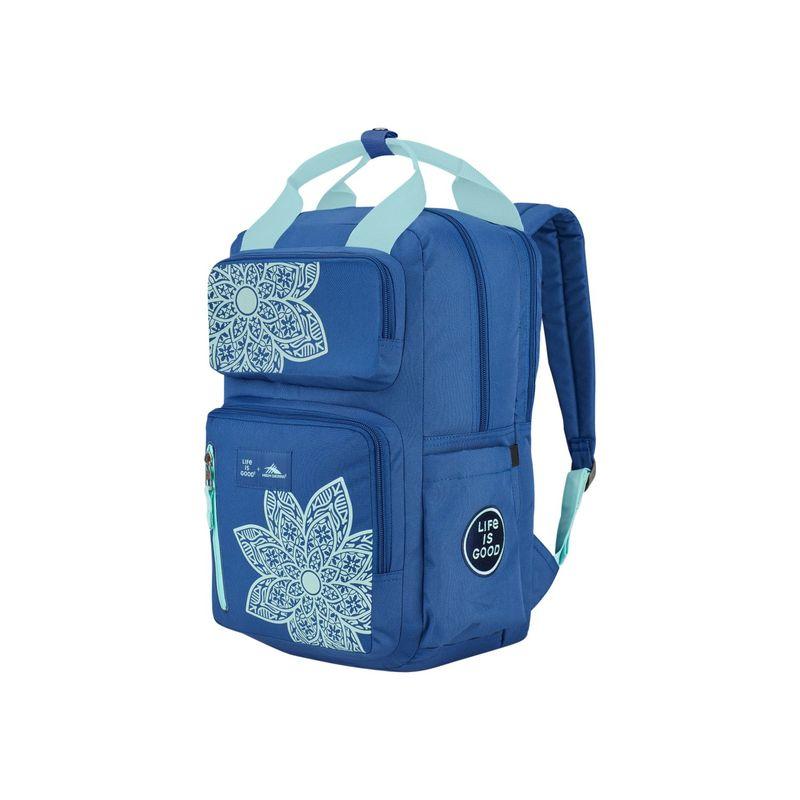 ハイシエラ メンズ バックパック・リュックサック バッグ Life Is Good Mindie Laptop Backpack Vintage Blue/Bermuda Blue