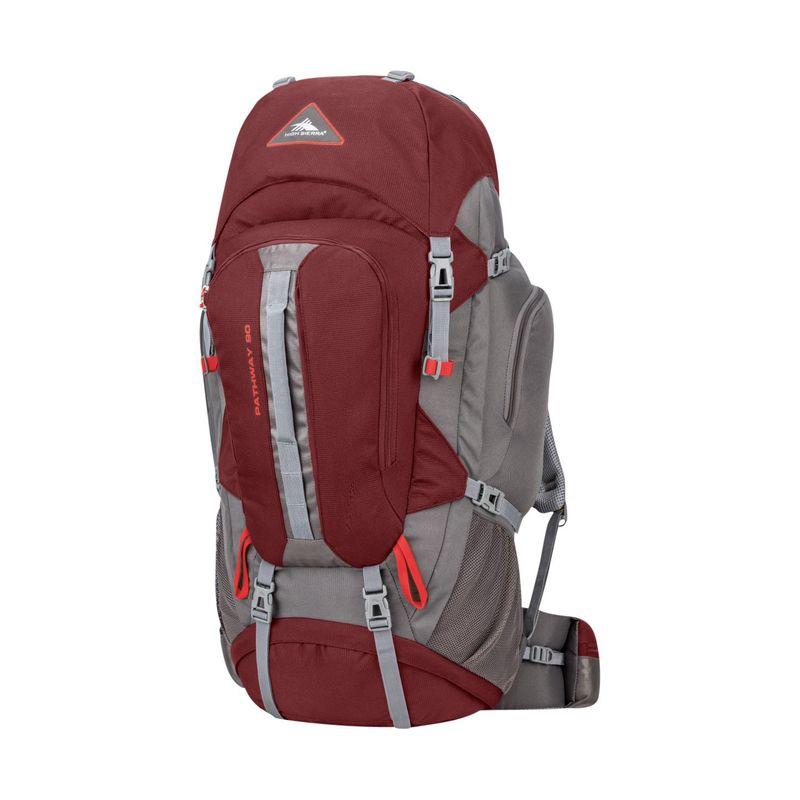 ハイシエラ メンズ バックパック・リュックサック バッグ Pathway 90L Hiking Pack Cranberry/Slate/Redrock