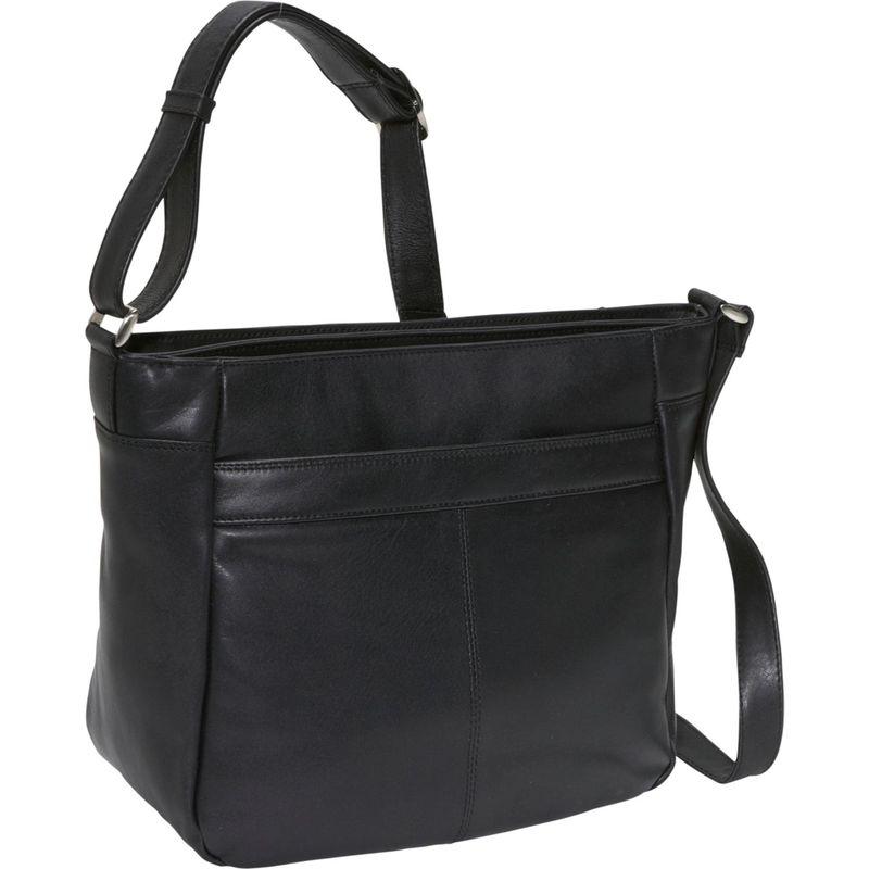 デレクアレクサンダー メンズ ボディバッグ・ウエストポーチ バッグ Two top zip organizer Black