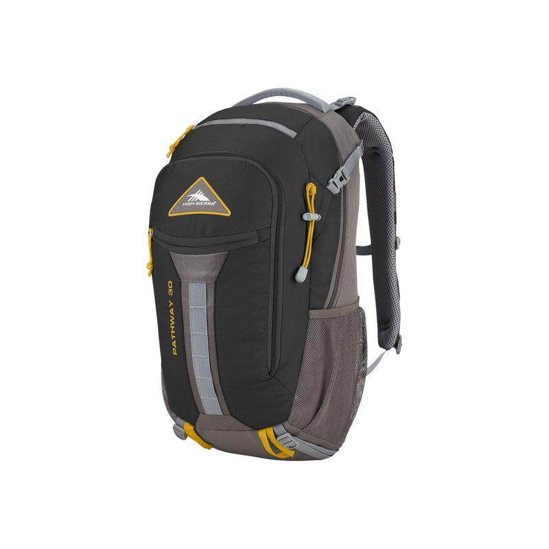 ハイシエラ メンズ バックパック・リュックサック バッグ Pathway 30L Hiking Pack Black/Slate/Gold