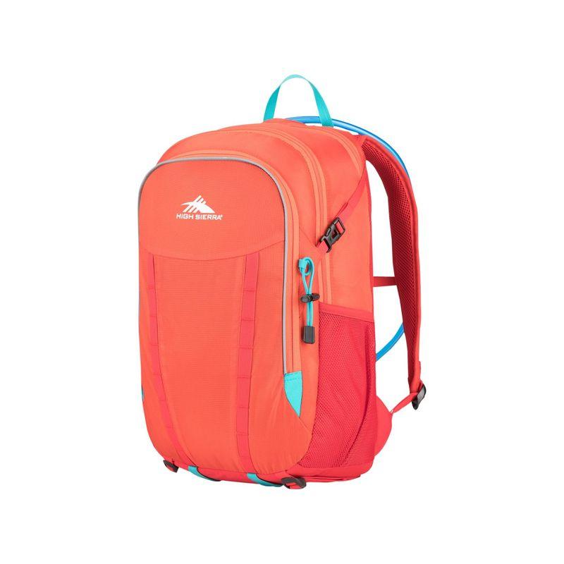ハイシエラ メンズ バックパック・リュックサック バッグ Hydrahike 24L Hydration Pack Redline/Crimson/Turquoise