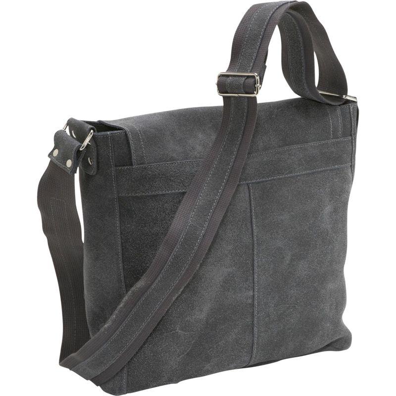 デビッドキング Vertical Simple Distressed Leather Messenger Bag Chocolate バッグ ショルダーバッグ メンズ
