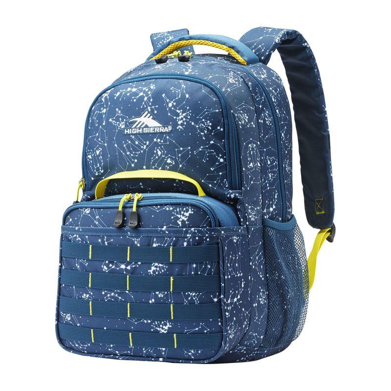 ハイシエラ メンズ バックパック・リュックサック バッグ Joel Lunch Kit Backpack Combo Space Creatures/Rust Blue/Glow