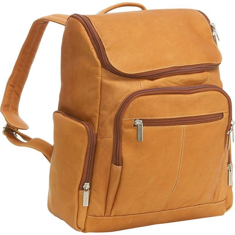 ルドネレザー メンズ バックパック・リュックサック バッグ Computer Back Pack Tan