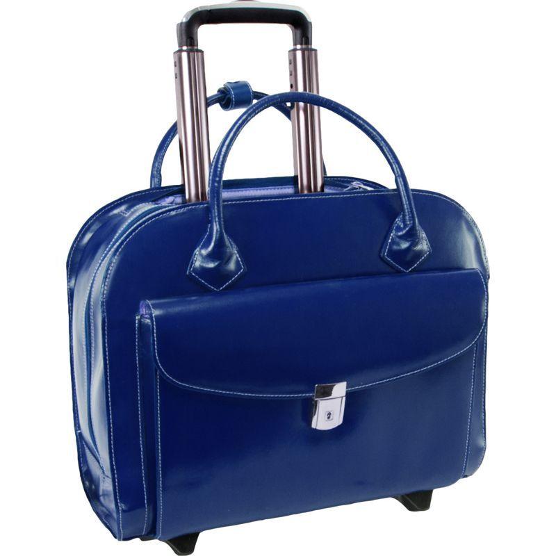 マックレイン メンズ スーツケース バッグ Granville Leather 15.4 Wheeled Ladies' Laptop Case Navy