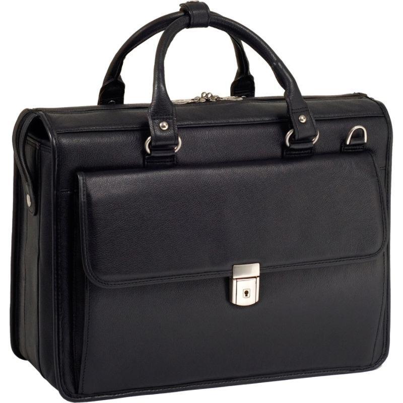 マックレイン メンズ スーツケース バッグ S Series Gresham Leather Litigator Laptop Brief Black