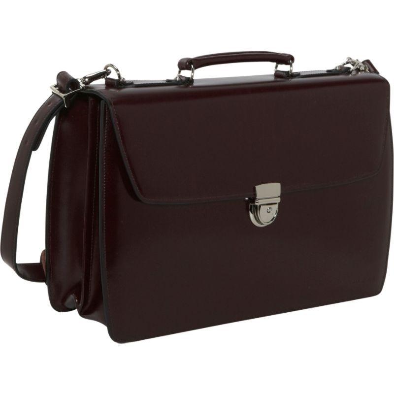 ジャックジョージス メンズ スーツケース バッグ Elements Collection Flapover Laptop Briefcase Burgundy