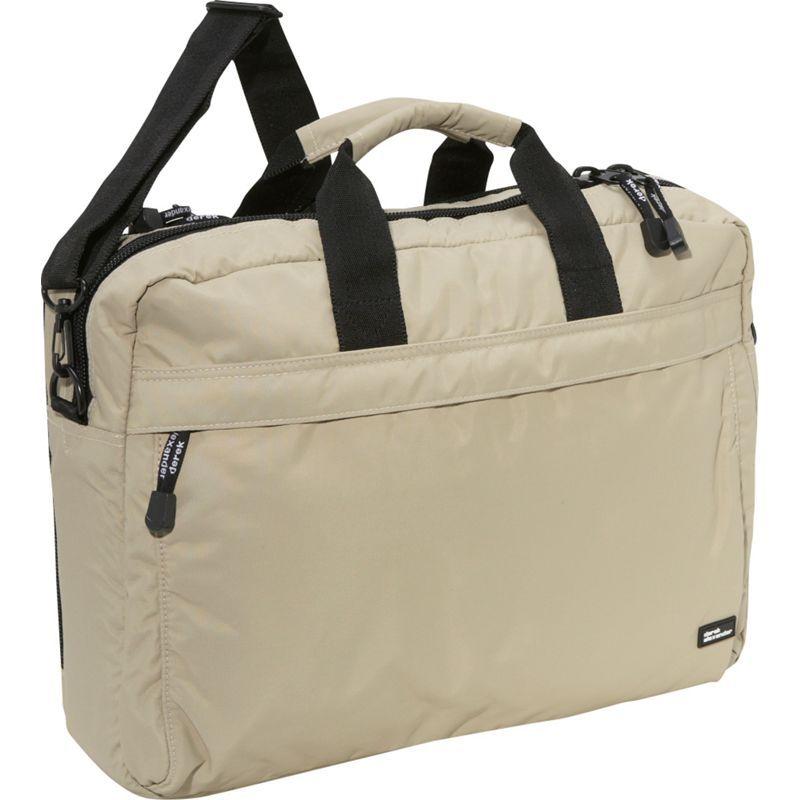 デレクアレクサンダー メンズ スーツケース バッグ Fully Equipped Computer Brief Tan