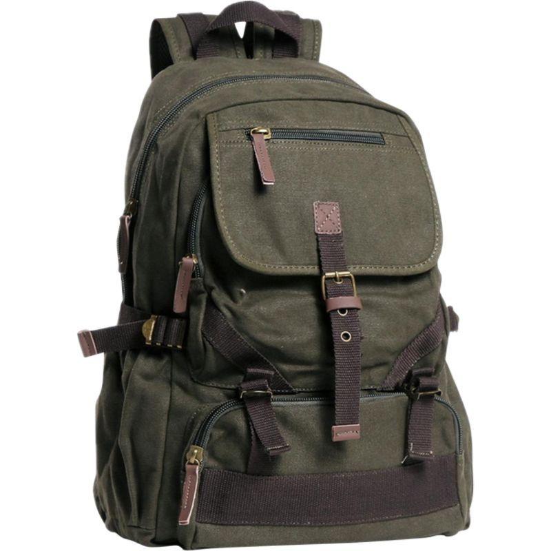ヴァガボンドトラベラー メンズ バックパック・リュックサック バッグ Sport Canvas Backpack Military Green