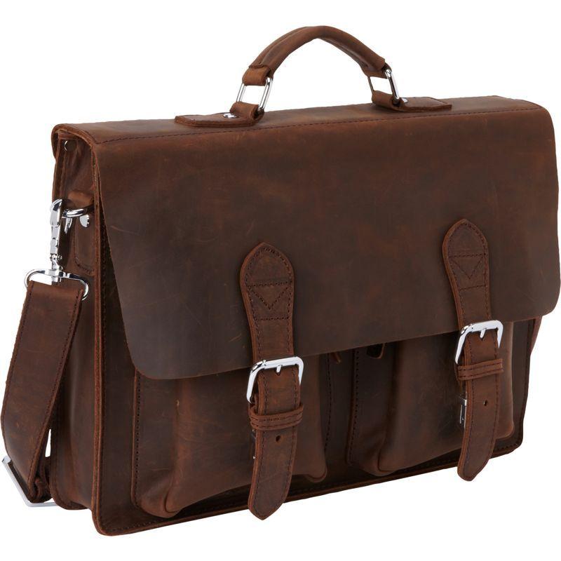 ヴァガボンドトラベラー メンズ スーツケース バッグ 15 Leather Laptop Bag Dark Brown