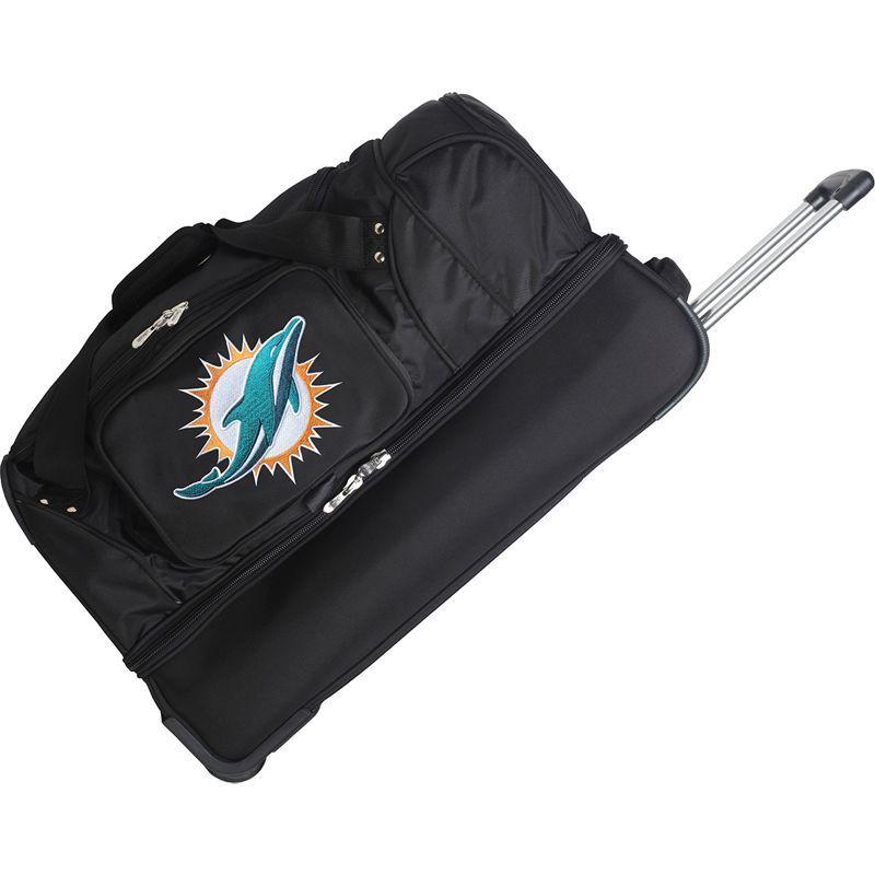デンコスポーツ メンズ スーツケース バッグ NFL 27 Drop Bottom Wheeled Duffel Bag Miami Dolphins