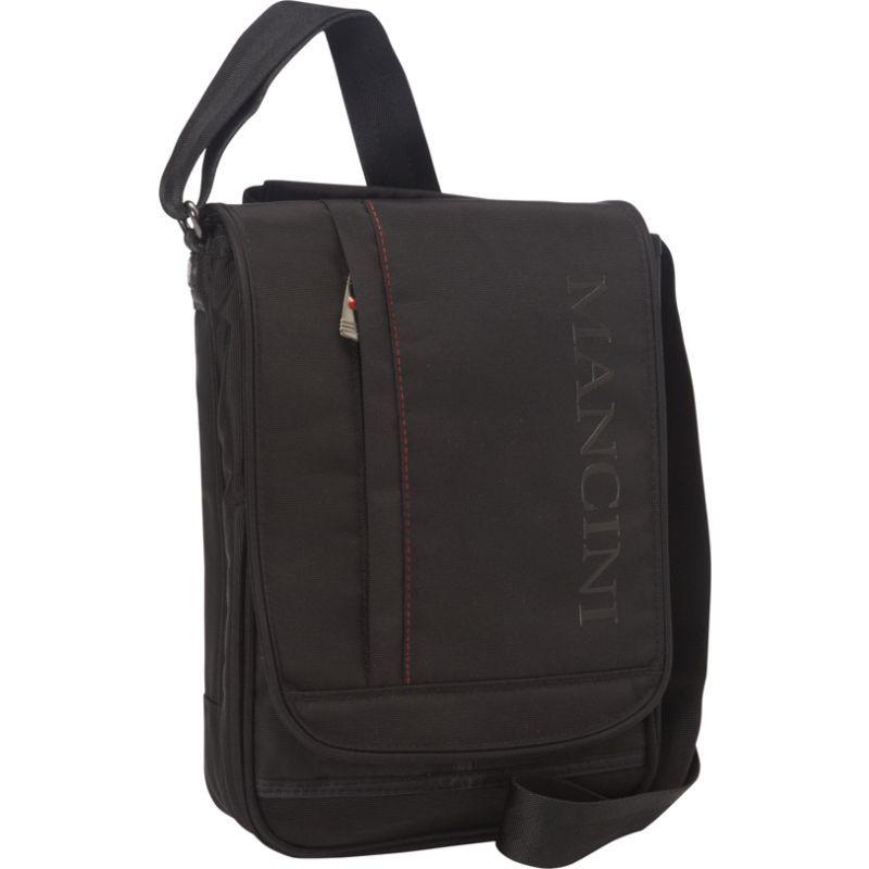 マンシニレザーグッズ メンズ ショルダーバッグ バッグ RFID Messenger Bag for Tablet/ E-Reader Black