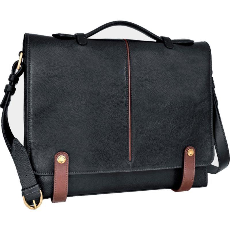 ハイデザイン メンズ スーツケース バッグ Eton Leather 15 Laptop Compatible Briefcase Work Bag Black