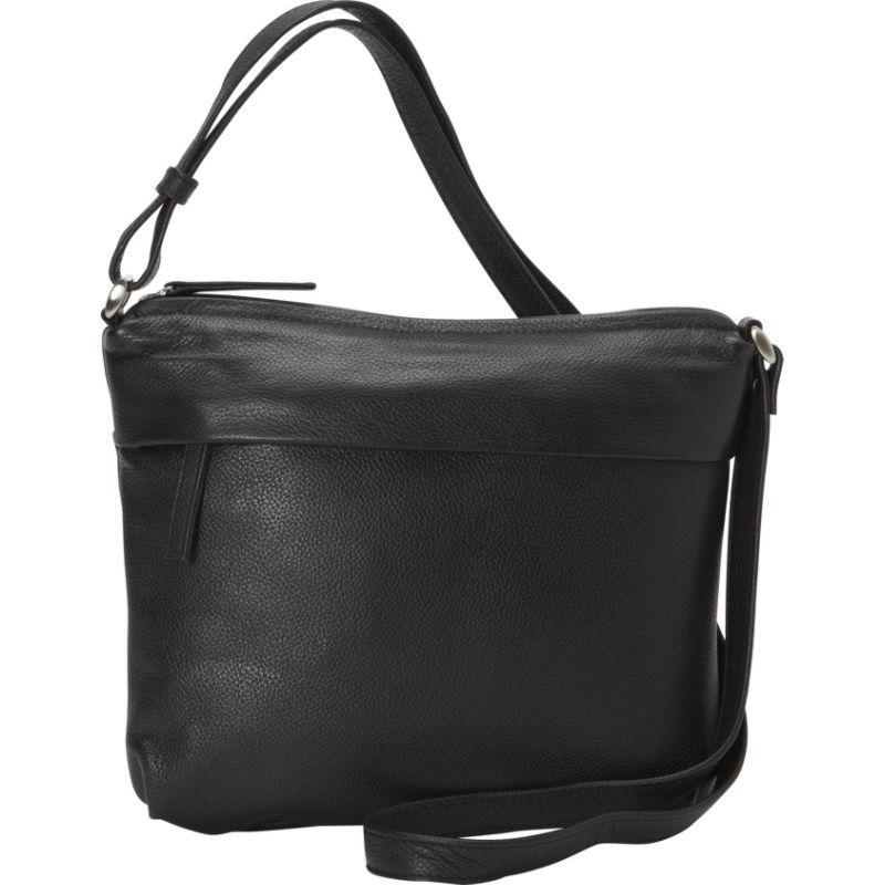 デレクアレクサンダー メンズ ボディバッグ・ウエストポーチ バッグ Small Slim Top Zip Black