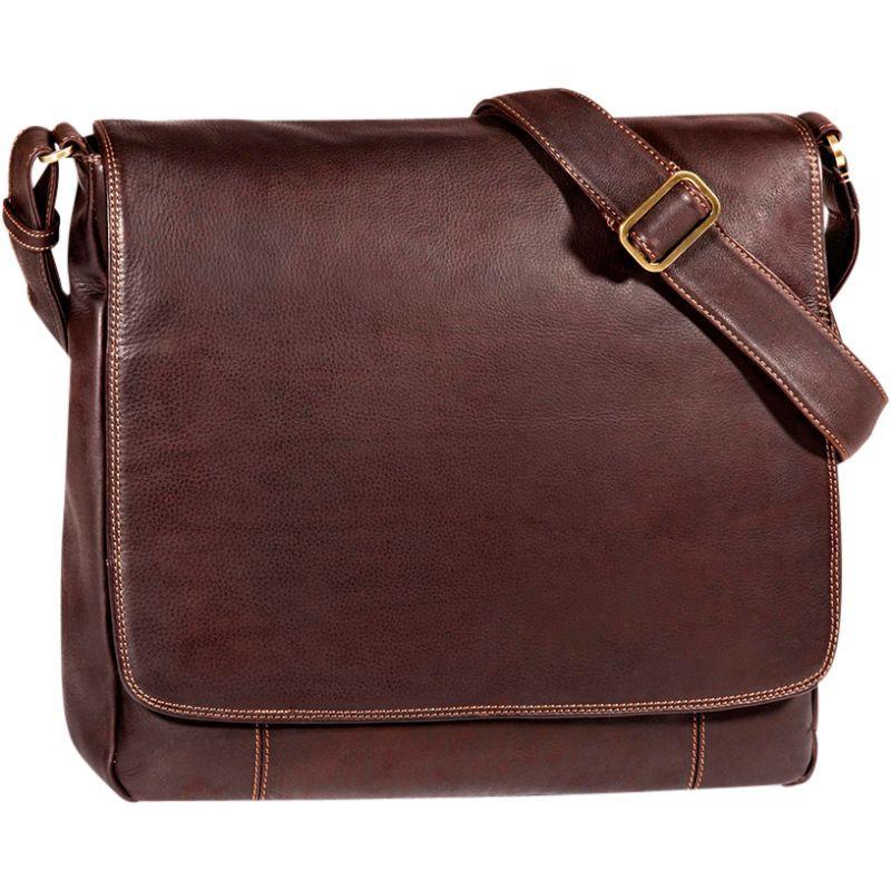デレクアレクサンダー メンズ ショルダーバッグ メンズ バッグ Large Large 3/4 Messenger Flap Unisex Messenger Bag Brown, アクシス株式会社:e188beac --- kutter.pl
