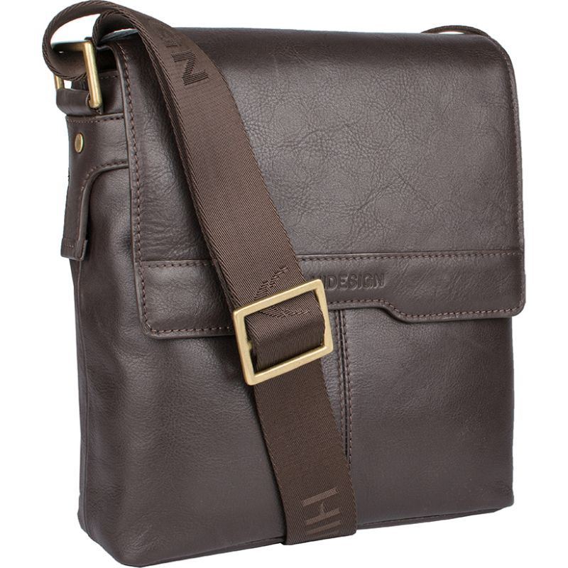 ハイデザイン メンズ ショルダーバッグ バッグ Helvellyn Small Leather Crossbody Brown