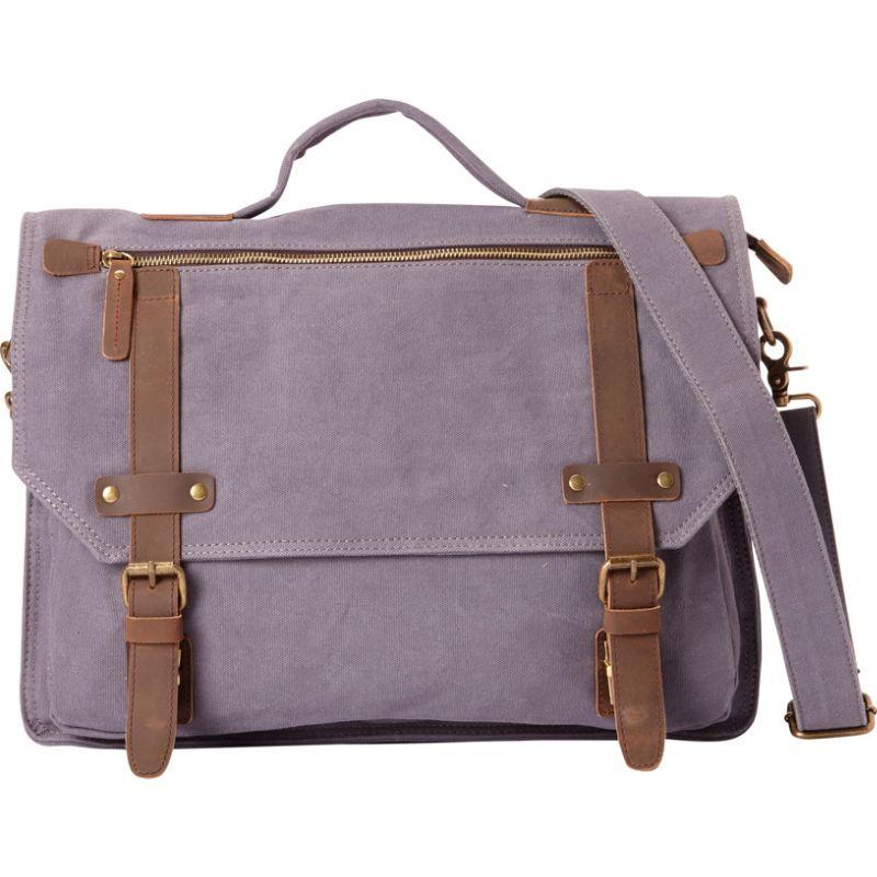 ヴァガボンドトラベラー メンズ ショルダーバッグ バッグ Classic Canvas Laptop Messenger Bag Blue Grey