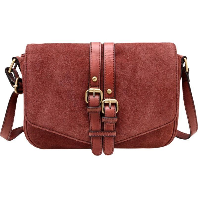 ビンセンゾレザー メンズ ボディバッグ・ウエストポーチ バッグ Jeanie Suede Leather Crossbody Handbag Chestnut