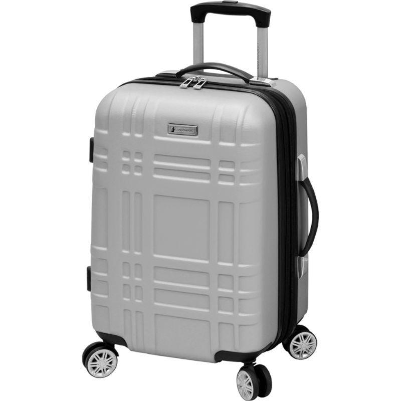 ロンドンフォグ メンズ スーツケース バッグ 20 Expandable Hardside Carry-On Spinner Silver