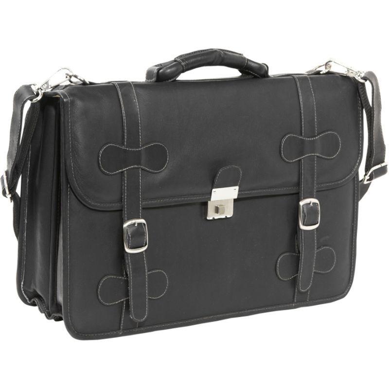 ピエール メンズ スーツケース バッグ XXL Leather Flap-Over Portfolio Black