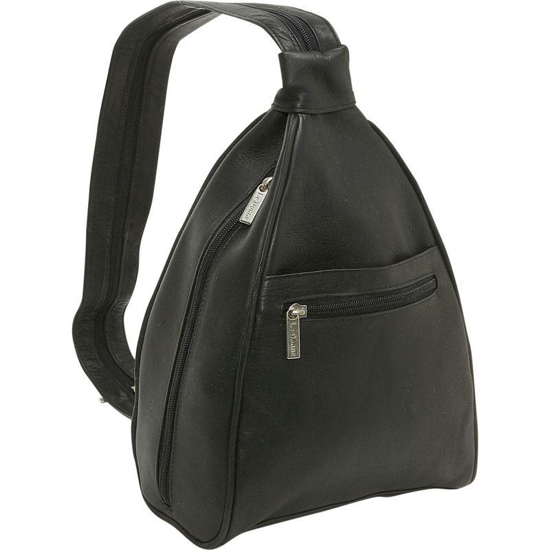 ルドネレザー レディース ハンドバッグ バッグ Womens Sling Back Pack Black