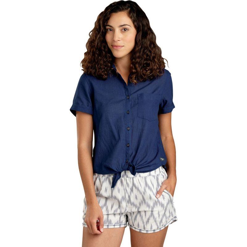 トードアンドコー レディース シャツ トップス Womens Indigo-For-It Short Sleeve Shirt S - Medium Indigo