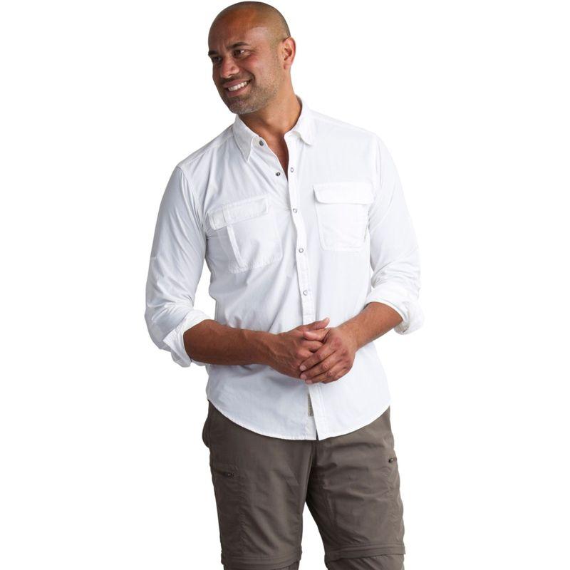 エクスオフィシオ メンズ シャツ トップス Mens Bugs Away Halo Long Sleeve Shirt M - White