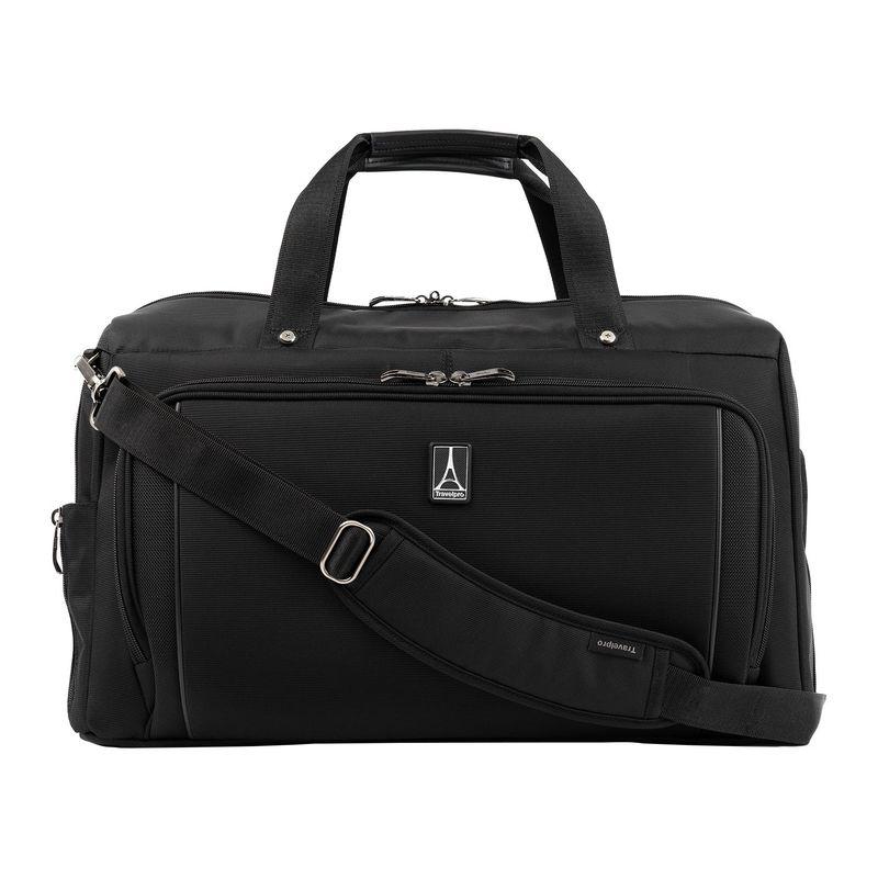 トラベルプロ メンズ スーツケース バッグ Crew Versapack Weekender Carry-On Duffel Bag with Suiter Jet Black