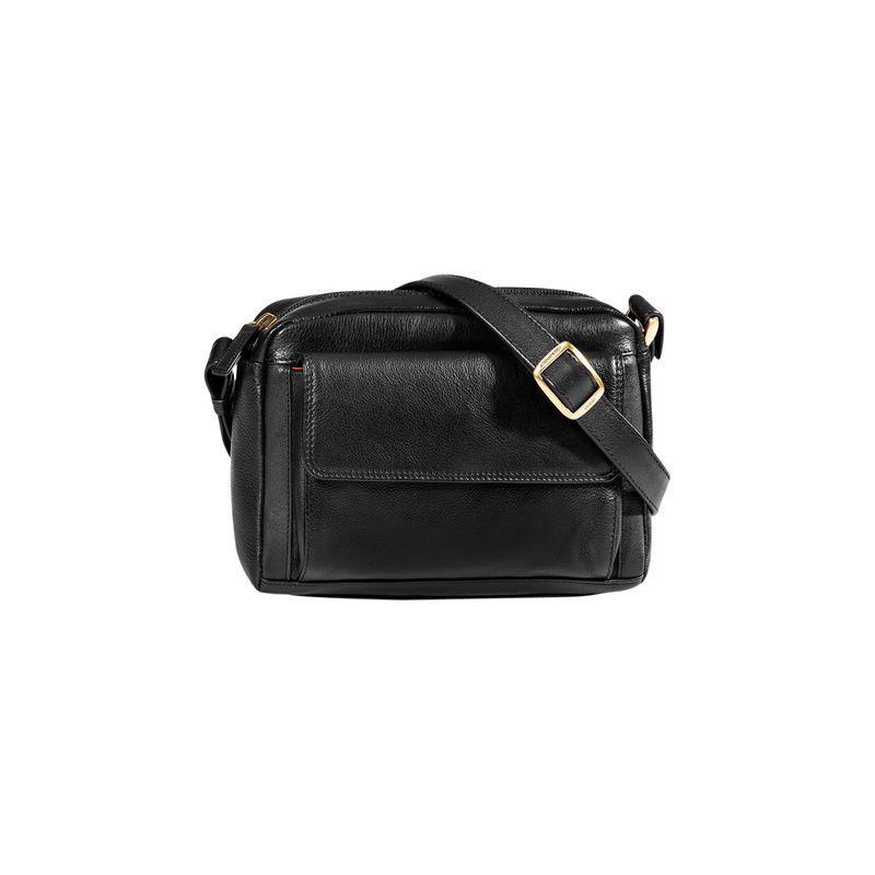 デレクアレクサンダー メンズ ボディバッグ・ウエストポーチ バッグ Small Front Pocket Travel Crossbody Black