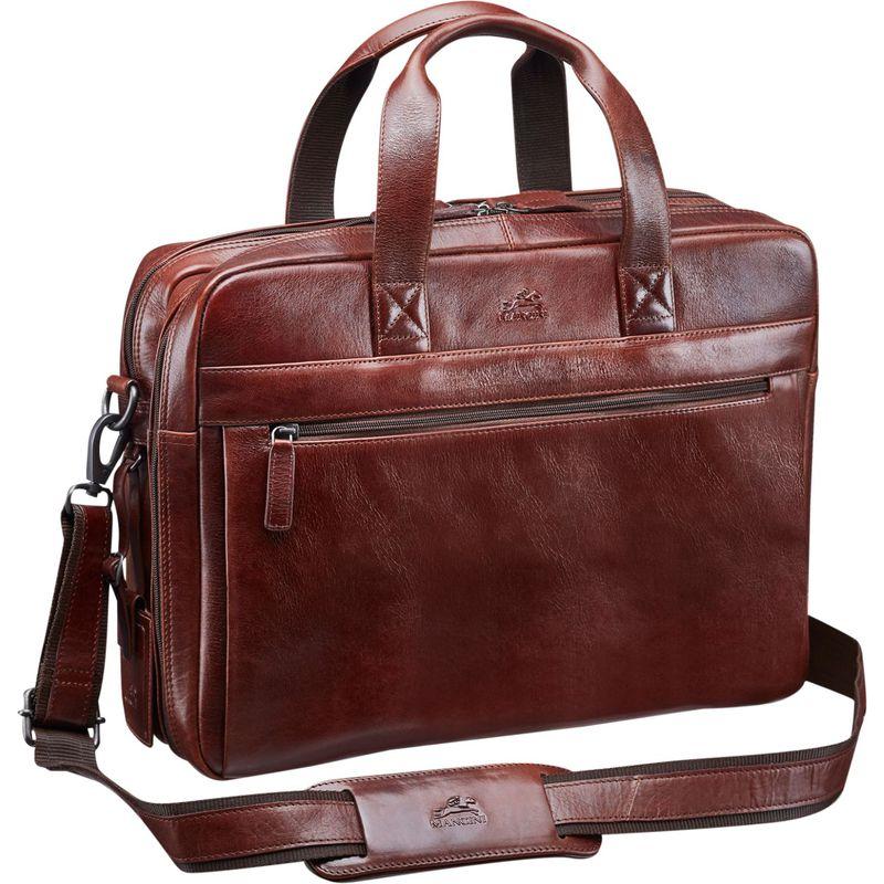 マンシニレザーグッズ メンズ スーツケース バッグ Vanizia Laptop/Tablet Double Compartment Briefcase with RFID Brown