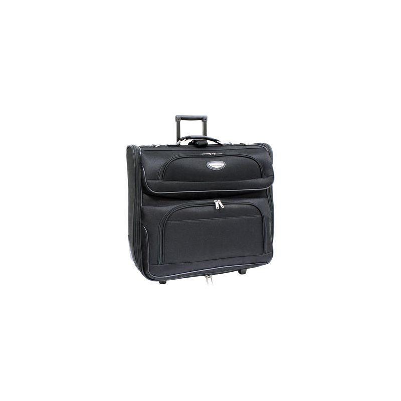 トラベラーズチョイス メンズ スーツケース バッグ Amsterdam Business Rolling Garment Bag Black