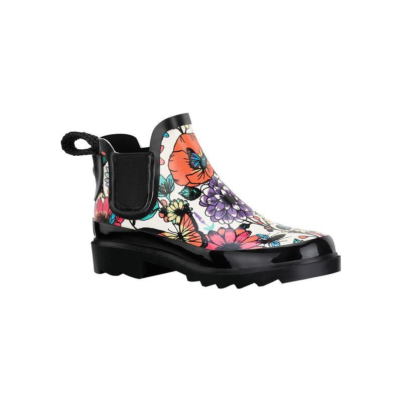 サックルーツ レディース ブーツ・レインブーツ シューズ Rhyme Ankle Rain Boot 6 - Optic In Bloom