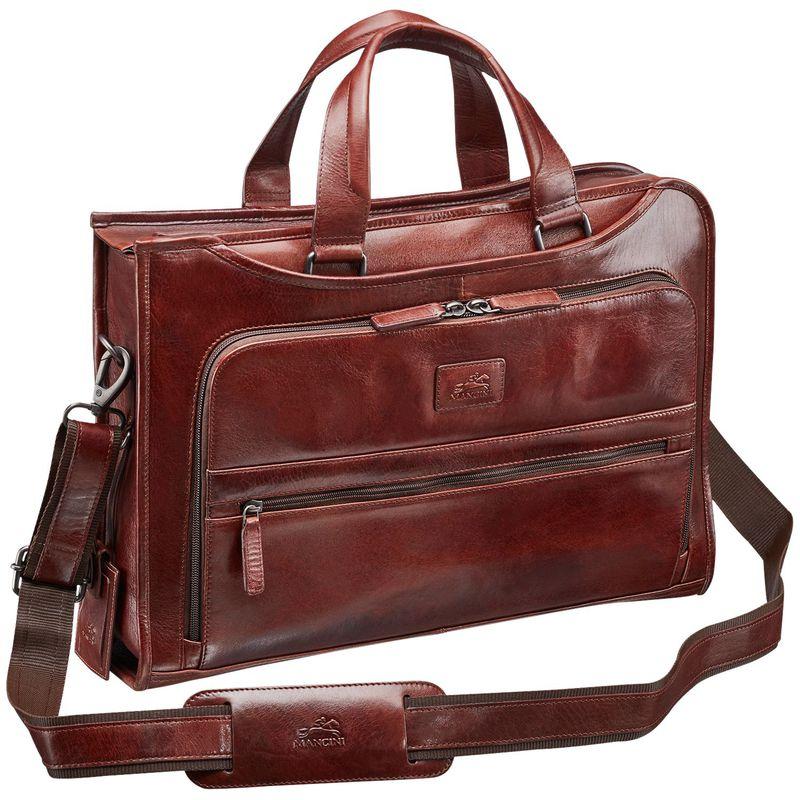 マンシニレザーグッズ メンズ スーツケース バッグ Vanizia Laptop/Tablet Single Compartment Briefcase with RFID Brown