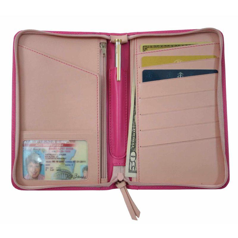 ロイスレザー メンズ 財布 アクセサリー Passport Travel Wallet Wild Berry