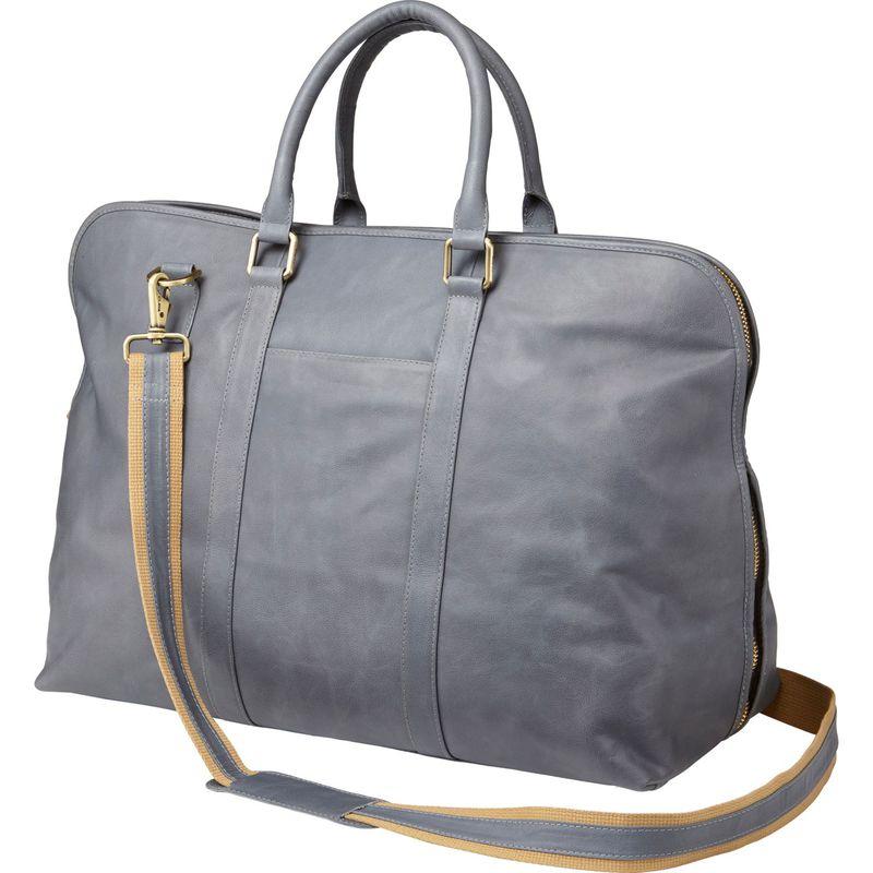 クレバ メンズ スーツケース バッグ Leather Weekender Satchel Sonoma Grey