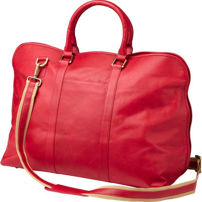 クレバ メンズ スーツケース バッグ Leather Weekender Satchel Sonoma Red