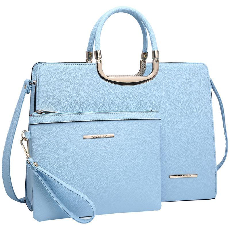 ダセイン メンズ ハンドバッグ バッグ Fashion Briefcase Satchel with Matching Accessory Pouch Light Blue