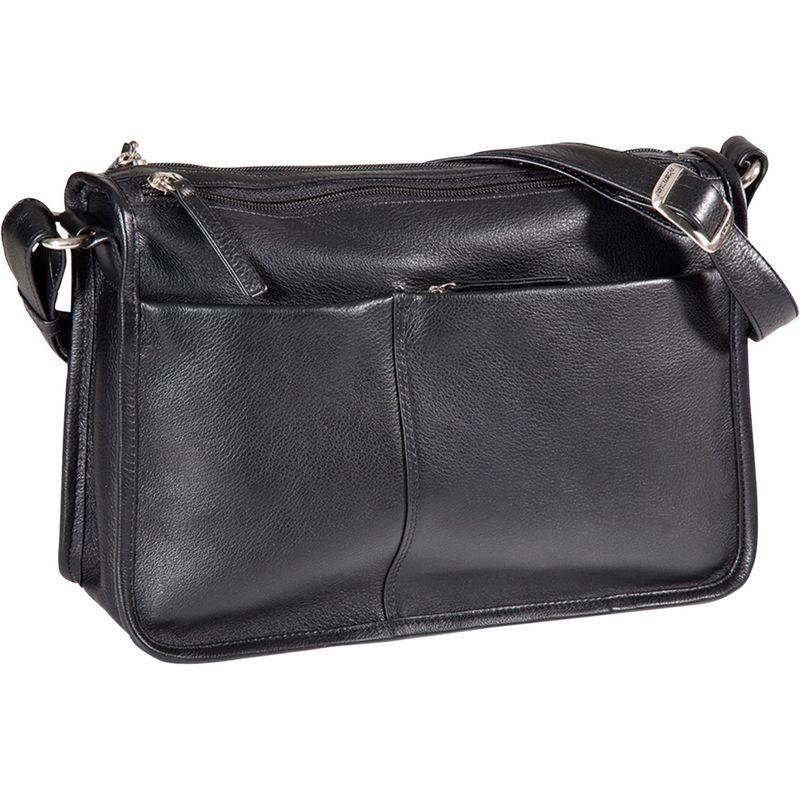 デレクアレクサンダー メンズ ボディバッグ・ウエストポーチ バッグ EW Twin Top Zip Shoulder Bag Black