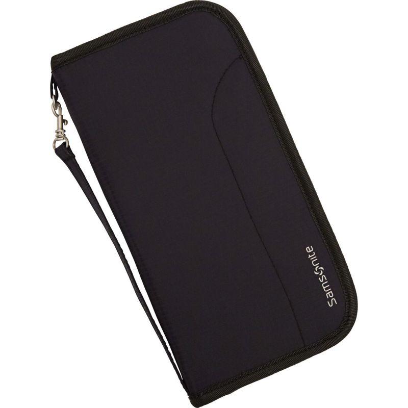 サムソナイト メンズ 財布 アクセサリー RFID Zip Close Travel Wallet Black