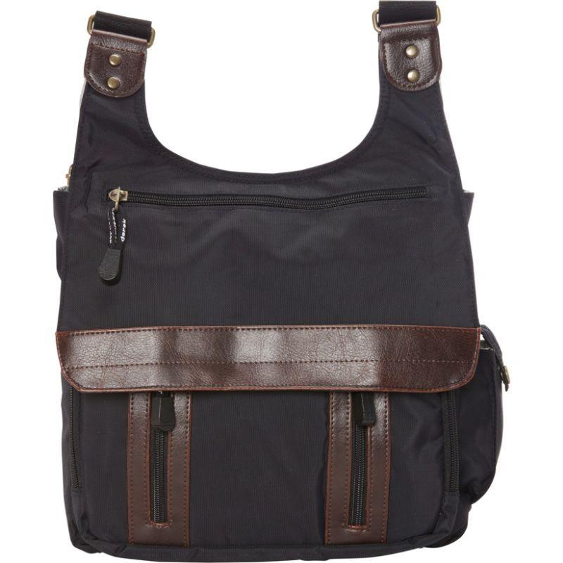 デレクアレクサンダー メンズ ボディバッグ・ウエストポーチ バッグ North/South Travel or day bag Black