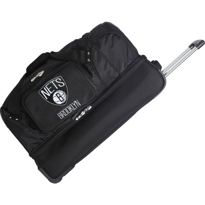 デンコスポーツ メンズ スーツケース バッグ NBA 27 Drop Bottom Wheeled Duffel Bag Brooklyn Nets