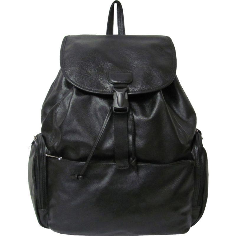 アメリ メンズ バックパック・リュックサック バッグ Jumbo Leather Backpack Black